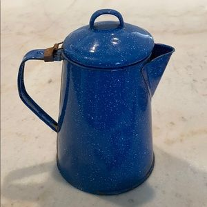 Vintage Blue Speckled Coffee / Tea Pot